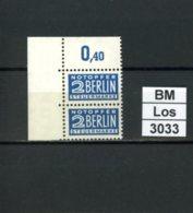 Notopfer Berlin, 8 Z, 14 : 14,  Xx, Falz Ganz Oben Im Oberrand, Marken Einwandfrei - Bizone