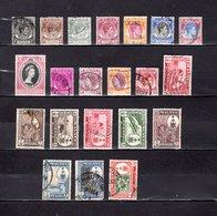 Malaysia - Pahang   1949-60  .  Y&T  Nº  3-6-7-9-12-14/15-23-26-29-32-33-41-42-51/57 - Pahang