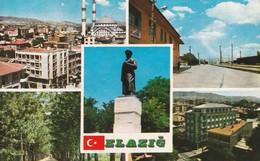 Turkey / Elazığ - Building - Architecture / View - 1970/80 - Postcard:İzzetpaşa Mosque. Railway Station And Other Views. - Turquie
