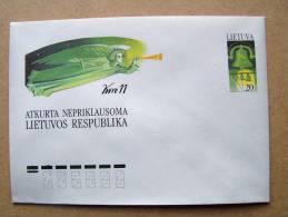Lithuanian Postal Stationary 1991 Angel Bell Kovo 11 - Lituanie