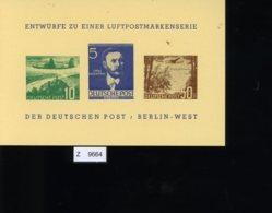 Berlin, Entwurf Einer Luftpostmarkenserie 1957 - Briefe U. Dokumente