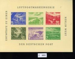 Berlin, Entwurf Einer Luftpostmarkenserie 1957 - [5] Berlin
