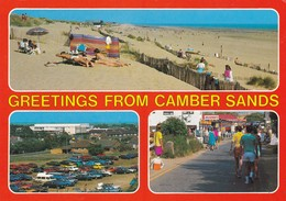 Postcard Greetings From Camber Sands Nr Rye East Sussex My Ref  B23351 - England