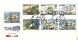 BELIZE FDC 1982-Mi-Nº 625-630 - NAVIRES - Belice (1973-...)