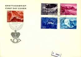 Lichtenstein, FDC, 381 - 385 - FDC