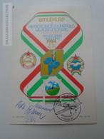 ZA168.18 Hungary  Emléklap XII Motoros Műrepülő Világbajnokság  MHSZ Békéscsaba 1984  -autograph Autogram - Autographs
