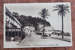 NICE (06) - LA MAISON ROUGE - RESTAURANT - QUAI DES ETATS-UNIS - Cafés, Hôtels, Restaurants
