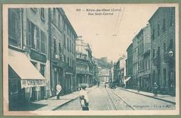 CPA - LOIRE - RIVES DE GIER - RUE SADI CARNOT - Animation, Commerces - édition Peyragrosse / 208 - B.F. Paris - Rive De Gier