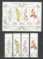 E080 1981 RSA PLANTS FLOWERS 1SET+1KB MNH - Plants