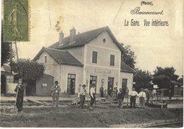 Carte Postale  Ancienne De BARONCOURT - La Gare Vue Intèrieure - France