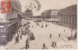 Bordeaux Place De La Comedie   1918 - Bordeaux