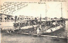 Carte Postale  Ancienne De GOLFE  JUAN (MARINE) - Torpilleurs Dans Le Port - Autres Communes