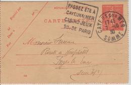 France Oblitération Daguin Somme Cayeux Sur Mer 1930 Sur Entier - 1921-1960: Modern Period