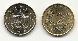 20 Cent, 2017, Prägestätte (A) Vz, Sehr Gut Erhaltene Umlaufmünze - Germania
