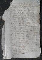 Manuscrit De 1573.Belle Calligraphie à Déchiffrer. - Manuscripts