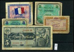 Sammlung Auf A5-Karte, Div. Geldscheine - [ 5] 1945-1949 : Occupation Des Alliés