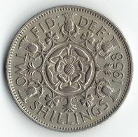 United Kingdom, 2 Shillings 1958 - 1902-1971 :  Post-Victoriaanse Muntstukken