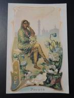 CHROMO. Lith. Romanet. FLEURS Symbole Des Pays. Femme En Habit Folklorique.  PAVOT.  INDE - Old Paper