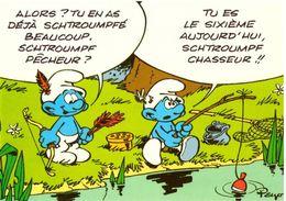 Lot De 5 Cartes Les Schtroumpfs Série 457/1 à 5 Ed Lyna Peyo - Bandes Dessinées