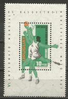 Uruguay - 1967 Basketball S/sheet  MNH **       Sc C318 - Uruguay