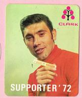 Sticker - Eddy Merckx - Wielrenner - SUPPORTER 1972 - CLARK - Autocollants
