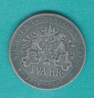 Sweden - Oscar II - Silver Jubilee - 2 Kronor - 1897 (KM762) - Suède