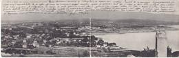 CPA PANORAMIQUE Panorama D'ANTIBES (carte Double) Circulée Timbrée 1906 - Antibes