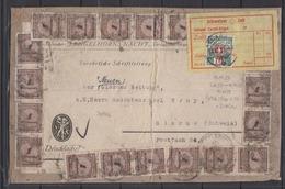 Dt.Reich Drucksachenausschnitt 19x 325A (mit PE) Vom 13.XI.23 , Gelber,schweizer Zollzettel Glarus Mit Porto 32 - Lettres & Documents