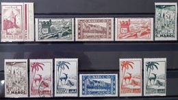 MAROC - N°224-226-228-229-230-231-231B-232-233-234-235 - Neuf SANS Charnière ** / MNH Et Oblitéré (o) - Maroc (1891-1956)