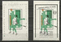 Uruguay - 1967 Basketball & 1969 Volleyball MNH **   Sc C318 & C349 - Uruguay