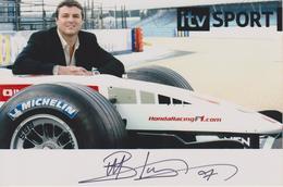 MARK BLUNDELL  PILOTE De F1 BRITANNIQUE  AUTOGRAPHE ORIGINAL - Autographs