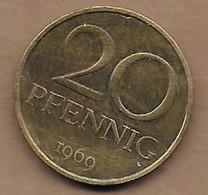 20 Pfennig 1969 - [ 6] 1949-1990 : GDR - German Dem. Rep.