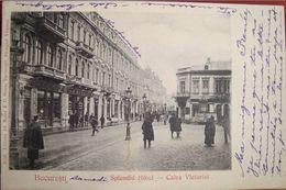 BUCURESTI 1905, Calea VICTORIEI, SPLENDID Hotel, Animata, Timbru - Romania