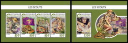 CENTRAL AFRICA 2018 **MNH Scouts Pfadfinder M/S+S/S - OFFICIAL ISSUE - DH1847 - Scouting