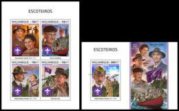 MOZAMBIQUE 2018 **MNH Scouts Pfadfinder Baden-Powell M/S+S/S - OFFICIAL ISSUE - DH1849 - Scouting