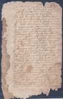 Manuscrit XVI°-XVII°.A Déchiffrer - Manuscripts