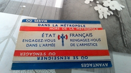 Tract Dépliant De Vichy Engagez Vous Armée De L Armistice - 1939-45