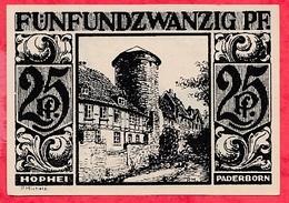 Allemagne 1 Notgeld  25 Pfenning Stadt  Paderborn Dans L 'état  Lot N °3199 - [ 3] 1918-1933 : République De Weimar