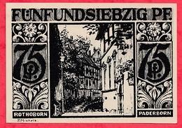 Allemagne 1 Notgeld  75 Pfenning Stadt  Paderborn Dans L 'état  Lot N °3200 - [ 3] 1918-1933 : République De Weimar