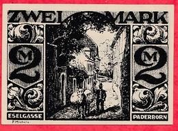 Allemagne 1 Notgeld  2 Mark Stadt  Paderborn Dans L 'état  Lot N °3202 - [ 3] 1918-1933 : République De Weimar
