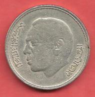 5 Dirhams , MAROC , Cupro-Nickel , 1980 , KM # 72 - Marruecos