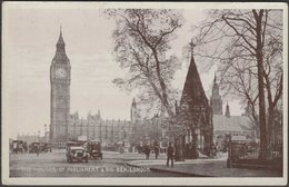 The Houses Of Parliament & Big Ben, London, 1918 - Postcard - Houses Of Parliament