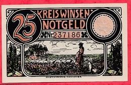 Allemagne 1 Notgeld  25 Pfenning Stadt Einlösbar Dans L 'état  Lot N °3206 - [ 3] 1918-1933 : République De Weimar