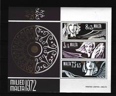 Malta 1972 Blok Nr 2 **, Zeer Mooi Lot K965 - Malte