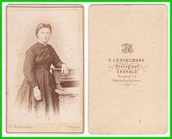 Photografie: F. J. Engelmann, Krefeld - Portrait, Feine Junge Dame Frau Femme Woman Lady  #0240 CDV / Kab - Photos