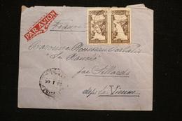Lettre 1945 Liban Vers France Au Dos Fiscal Surchargé - Liban