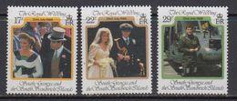 Falkland Islands Dependencies (FID) 1986 Royal Wedding Of Prince Andrew 3v ** Mnh (41701) - Zuid-Georgia