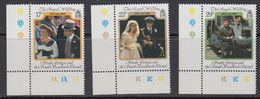 Falkland Islands Dependencies (FID) 1986 Royal Wedding Of Prince Andrew 3v (corner) ** Mnh (41701A) - Zuid-Georgia