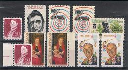 U.S.A.:  1967/68  COMMEMORATIVI  -  10  VAL. N. -  YV/TELL. 824 A//858 - Stati Uniti