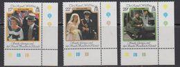 Falkland Islands Dependencies (FID) 1986 Royal Wedding Of Prince Andrew 3v (corner) ** Mnh (41701B) - Zuid-Georgia
